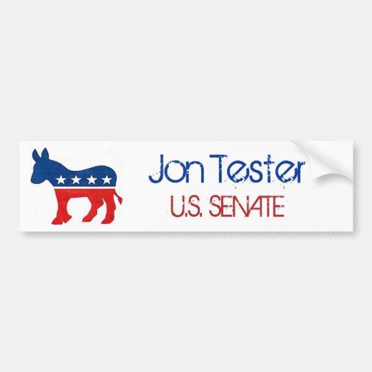 Jon Tester for U.S. Senate Bumper Sticker