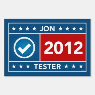 Jon Tester Yard Sign