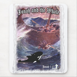 Jonah 1:17 - Jonah and the Whale Mouse Pad