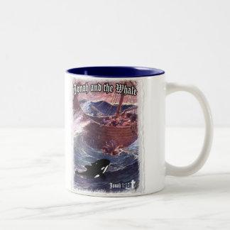 Jonah 1:17 - Jonah and the Whale Two-Tone Coffee Mug