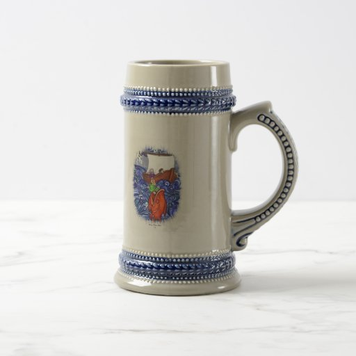 Jonah and the Big Fish 18 Oz Beer Stein