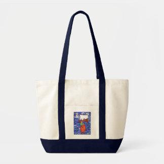 Jonah and the Big Fish Impulse Tote Bag