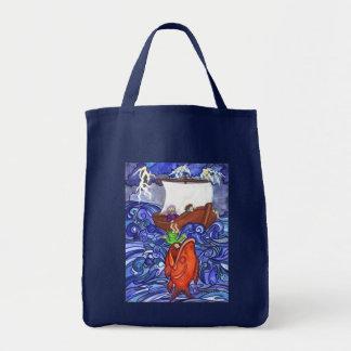 Jonah and the Big Fish Grocery Tote Bag