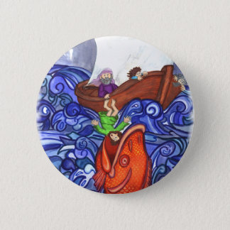 Jonah and the Big Fish Pinback Button