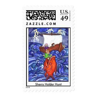 Jonah and the Big Fish postage