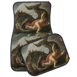 """""""Jonah and the Whale"""" art floor mats Car Mat"""