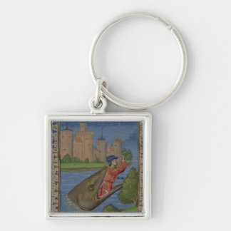 Jonah and the Whale, from the Bible of Jean XXII Keychain