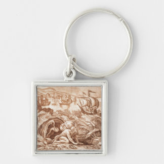 Jonah and the Whale, illustration from a Bible, en Keychain