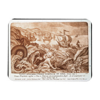Jonah and the Whale, illustration from a Bible, en Magnet