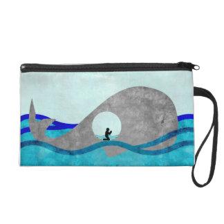 Jonah And The Whale Wristlett Wristlet Purse