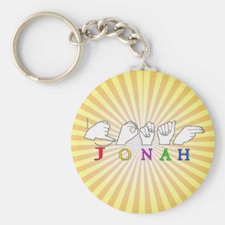 JONAH ASL FINGERSPELLED NAME SIGN MALE KEYCHAIN