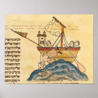 Jonah comido por la ballena posters