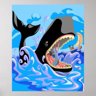 Jonah en el poster de la ballena póster