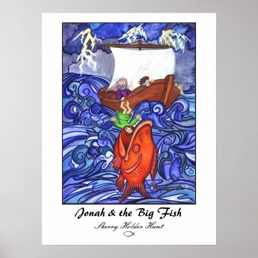 Jonah & the Big Fish Print-Customized