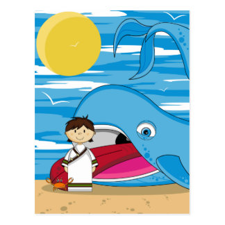 Jonah & the Whale Postcard