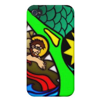 Jonah y ballena iPhone 4 fundas