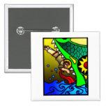 Jonah y ballena pin