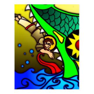 Jonah y ballena postales