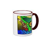 Jonah y ballena tazas de café