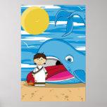 Jonah y el poster de la ballena