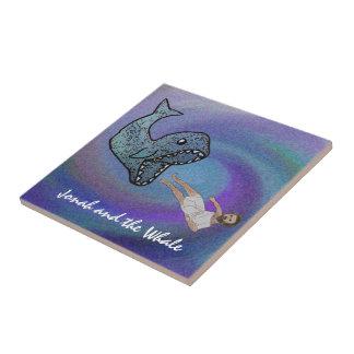 Jonah y la baldosa cerámica de la ballena azulejos