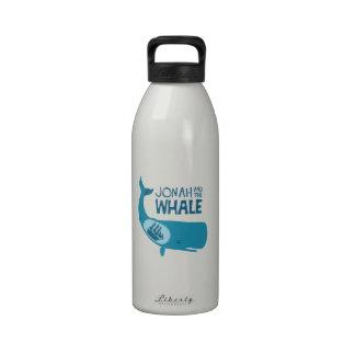Jonah y la ballena botellas de agua reutilizables