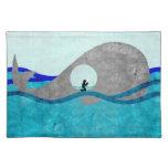 Jonah y la estera de lugar de la ballena mantel