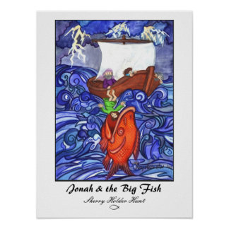 Jonah y los pescados grandes Impresión-Modificados Poster