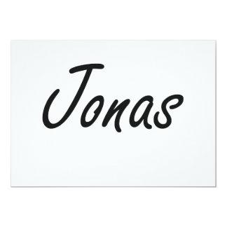 Jonas Artistic Name Design 5x7 Paper Invitation Card