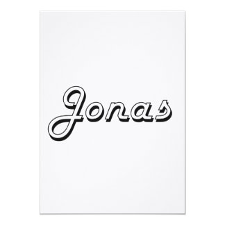 Jonas Classic Retro Name Design 5x7 Paper Invitation Card