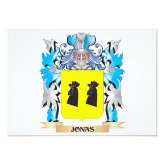 Jonas Coat of Arms - Family Crest 5x7 Paper Invitation Card