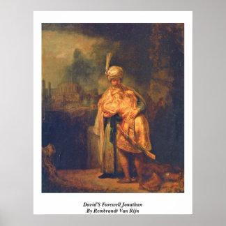 Jonatán de despedida de David de Rembrandt Van Rij Impresiones