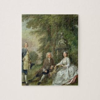 Jonatán Tyers (d.1767) y su hija, Elizabet Rompecabeza