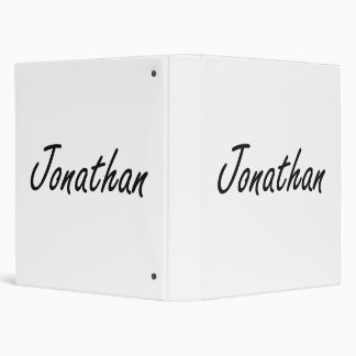 Jonathan Artistic Name Design 3 Ring Binders