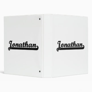 Jonathan Classic Retro Name Design Binder