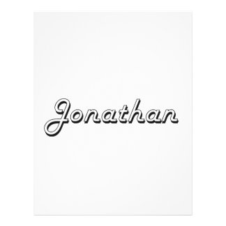"Jonathan Classic Retro Name Design 8.5"" X 11"" Flyer"