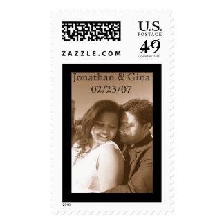 Jonathan & Gina 02/23/07 Postage Stamps
