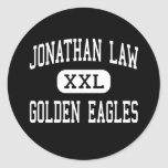 Jonathan Law - Golden Eagles - High - Milford Classic Round Sticker