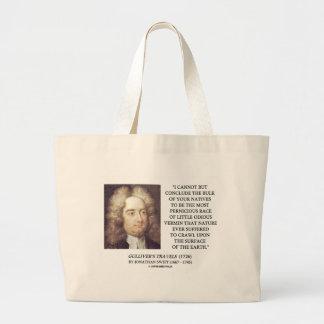 Jonathan Swift Bulk Of Natives Odious Vermin Earth Large Tote Bag