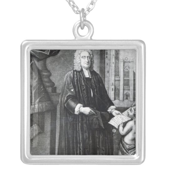 Jonathan Swift, engraved by Andrew Miller, 1743 Silver Plated Necklace