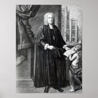Jonathan Swift, grabado por Andrew Miller, 1743 Póster