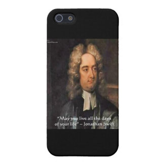 Jonathan Swift Live Life Humor Quote Cover For iPhone SE/5/5s