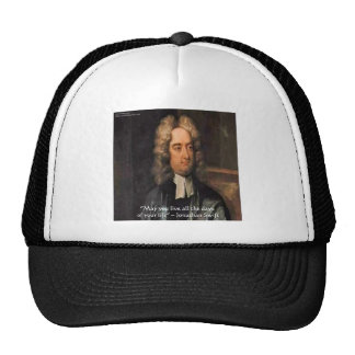Jonathan Swift Live Life Humor Quote Trucker Hat