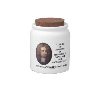 Jonathan Swift nada constante pero inconstancia Plato Para Caramelo