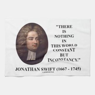 Jonathan Swift nada constante pero inconstancia Toallas De Cocina