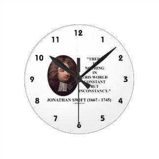 Jonathan Swift nada constante pero inconstancia Reloj Redondo Mediano
