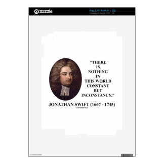 Jonathan Swift nada constante pero inconstancia Skin Para El iPad 2