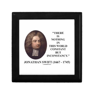 Jonathan Swift Nothing Constant But Inconstancy Jewelry Box