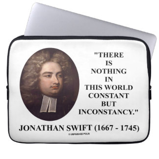 Jonathan Swift Nothing Constant But Inconstancy Laptop Sleeve