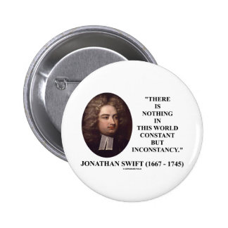 Jonathan Swift Nothing Constant But Inconstancy Pinback Button